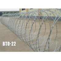 Buy cheap 1.4mm Hot Dipped Single Razor Barbed Wire Blade Fencing Bto-22 from wholesalers