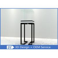 Buy cheap Simple Glass Jewellery Shop Cabinets / Jewelry Display Cabinets Cream Coating Color product