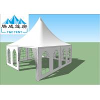 Buy cheap UV Resistant Transparent White Waterproof Hop-Dip Galvanized Steel Aluminum Wedding Canopy For Party from wholesalers