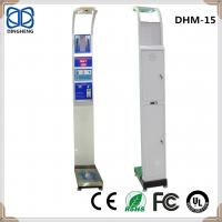 Buy cheap DHM-15 Supermarket Coin Ultrasonic Heihgt Sensor and Weight fat health analysis Bathroom scale 180kg/400lb body weighing from wholesalers