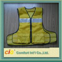 Buy cheap Polyester High Visibility Reflective Safety Vests Clohting With EN20471 CE Standard product
