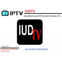 Buy cheap IUDTV Italy/Germany/UK IPTV 1 Year Turkish Indian African US Channels Support APK Enigma2 Mag25X M3U from wholesalers