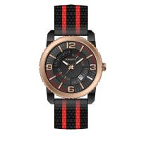 Buy cheap Men's Nylon Strap Large Face Watches Alloy Round Case Wrist Sports Watch from wholesalers