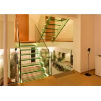 Buy cheap Indoor Straight Flight Staircase Double Stringer Led Panel Staircase from wholesalers