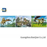 Buy cheap Customized Dinosaur 3D Lenticular Printing With Framed , 3D Lenticular Flip Picture from wholesalers