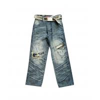 Buy cheap High quality girls jeans children jeans wear for 6 - 16y with Casual hot bead design from wholesalers