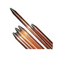 Buy cheap Stand copper lightning rods with One head flat and another head point from wholesalers
