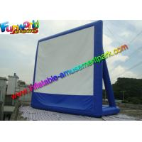 Buy cheap 11 x 10 Dark Blue Inflatable Movie Screen , Inflatable Projector Screens / Theater from wholesalers