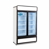 Buy cheap Commercial Display Drink Refrigerator Glass Doors 1000L Cooler Showcase from wholesalers