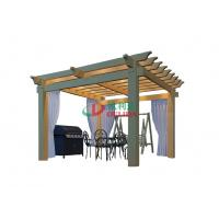 Buy cheap 4m X 4m Double Layers Pergola Kits With Roof , Waterproof Outdoor Pergola Kits from wholesalers
