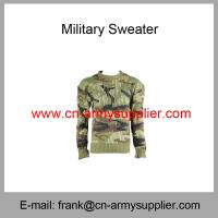 Buy cheap Wholesale Cheap China Army Green Camouflage Wool Acrylic Military Sweater from wholesalers
