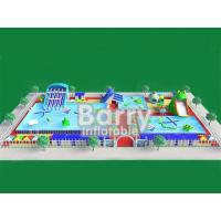Buy cheap Commercial inflatable water park equipment , metal frame inflatable amusement park from wholesalers
