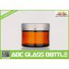 Buy cheap Factory Sale 50ml Skin Cream Amber Glass bottle, Skin Care Cream Brown Glass Bottle from wholesalers