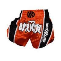 Buy cheap Black and Red Custom Boxing Shorts professional Muay thai Short from wholesalers