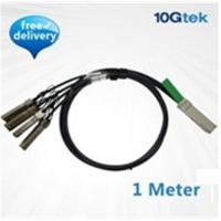 Buy cheap QSFP+ to 4 SFP+ Copper Breakout Cable 1m, Passive (QSFP-4SFP10G-CU1M) from wholesalers