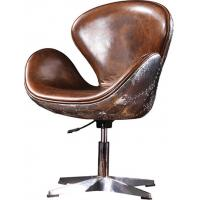 Alloy Base ergonomic Leather Office Desk Chair Thick Aluminium Sheet outside