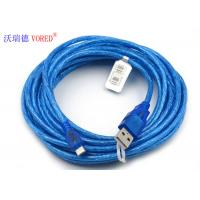 Buy cheap Blue Transparent Micro USB Data Cable Micro 5 Pin USB 156g Net Weight from wholesalers