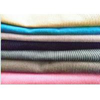Buy cheap White Color Yarn Dyed Corduroy Velvet Fabric For Pants , 100% Cotton from wholesalers