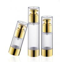 Buy cheap Golden Aluminum Empty Custom Cosmetic Bottles Airless Pump U Shape With Window from wholesalers