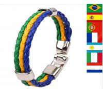 Buy cheap Multi-country World Cup commemorative bracelet bracelet braided leather bracelets from wholesalers