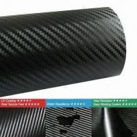 Buy cheap 3D Carbon Fiber Vinyl for Automotives, Various Colors are Available from wholesalers