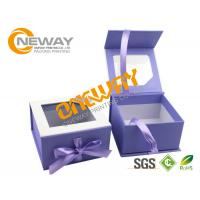 Buy cheap Printed Packaging Boxes , Custom Print Plastic Pillow Box Packing With Transparent Window from wholesalers