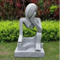 Buy cheap Professional Small Modern Abstract Stone Sculpture Hand Carved For Garden from wholesalers
