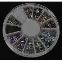 Buy cheap Triangle-High Quality Colors Nail Art Rhinestones Glitters Gems Nail Art Decoration Wheel from wholesalers