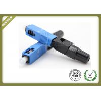 Buy cheap 3.0mm Fiber Optic Accessories SC / UPC FTTH Quick Connect Fiber Optic Connectors from wholesalers