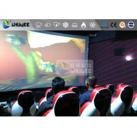 Buy cheap Interaction Reality 7D Movie Theater With Red Fiber Glass Motion Seats from wholesalers