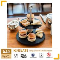 Buy cheap Natural slate 2 tire cake stand with high quality and beautiful design from wholesalers