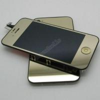 Buy cheap Coloured digitizer with mirro LCD assembly back cover whole set gold for iPhone 4S/4GS from wholesalers
