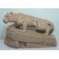 Buy cheap Acrylic Epoxy Resin Crafts Mascot of Lion Standing on Rock Garden Sculptures Statues from wholesalers