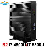 Buy cheap Partaker B2 Fanless Mini PC Intel Core I7 4500u i7 5500u i7 5550u i7 4558u Barebone Max 16G RAM 512G SSD 1TB HDD from wholesalers