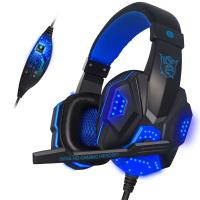 Buy cheap Gaming Wired Gamer Sony Stereo Bluetooth Headset With Mic LED Light For Computer PC Gamer from wholesalers
