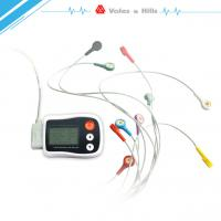 Buy cheap Portable Holter ECG black Recorder With LCD , Holter Heart Monitor FDA Approved from wholesalers