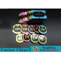 Buy cheap Difficult To Distort Authentic Casino Poker Chips, Crystal Dice Poker Chips from wholesalers