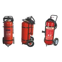 Buy cheap Easy Installation DCP Trolley Fire Extinguisher 25kg For Industry OEM / ODM product