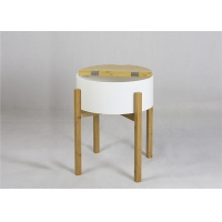 Buy cheap BSCI 48cm Height Round Wood Coffee Table For Bedroom from wholesalers