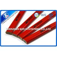 Buy cheap Red Octagonal Wooden Carpenter Pencil / Art Pencil Set Customized Logo from wholesalers