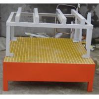 Buy cheap Galvanized Steel Spill Containment Pallets 3mm Thickness Highly Load Capacity from wholesalers