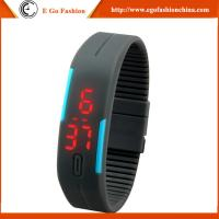 Buy cheap Black Red Orange Watch Quartz Analog Watch Unisex Boys Girls Kids Watch Slap LED Watches from wholesalers