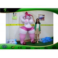 Buy cheap 2 M Pink Inflatable Cartoon Characters Sexy Girl Toys With Big Boobs / SPH from wholesalers