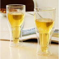 Buy cheap top popular double wall beer glass for wholesale from wholesalers