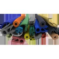 Multi Color Silicone Extruded Rubber Profiles Chemically Extremely Stable