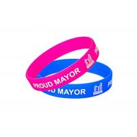 Buy cheap Logo Printing Custom Silicone Wristbands Colorful Adjustable Wristbands Promotional Items from wholesalers