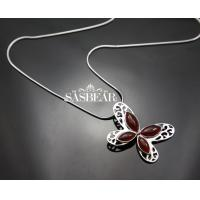 Buy cheap Gemstone Pendent Necklace Sasbear 925 Sterling Silver Value from wholesalers