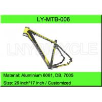 Buy cheap Aluminium Mountain Bike Frame / 26 Inch Taper MTB Bicycle Frame from wholesalers