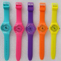 Buy cheap Vogue Purple Silicone Rubber Watch With Japan Movement , Lady Quartz Wrist Watch from wholesalers