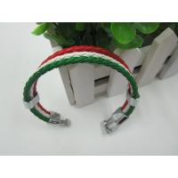 Buy cheap Mixed Leather Men Female Bead Charm Bracelets Fashionable Eco Friendly from wholesalers